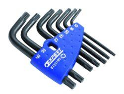 EXPERT E121103 Sada klíčů 7dílná  TT torx s otvorem 711T.107-Klíče v plastovém držáku: TX10; TX15; TX20; TX25; TX27; TX30; TX40