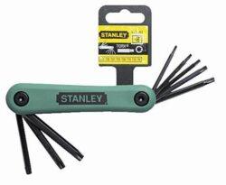STANLEY 4-69-263 Sada klíčů 8dílná torx TX9-TX40-Sada klíčů zástrčných šestihranných - TORX 8-dílná