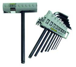 STANLEY 0-89-904 Sada klíčů 9dílná inbus (imbus) 1,5-10,0mm s rukojeti-9dílná sada šestihranných zástrčných klíčů s kuličkou v nasazovací rukojeti