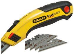 STANLEY 7-10-778 Nůž zásuvný bimateriální 180mm FatMax-Zasouvací nůž s 5ks karbidových čepelí