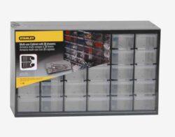 STANLEY 1-93-980 Zásobník plastový 30 zásuvek-Víceúčelový zásuvkový organizer (30 malých zásuvek)