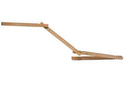 STANLEY 0-35-455 Metr skládací 2m dřevěný-Dřevěné skládací metry s přírodním povrchem