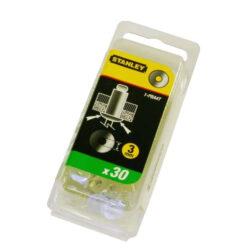 STANLEY 1-PBA6T Podložky pro nýty 5mm Alu 30ks-Podložky pod trhací nýty