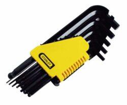 "STANLEY 0-69-257 Sada klíčů 12dílná inbus (imbus) inch 1/16""-3/8""-Sada šestihranných zástrčných klíčů"