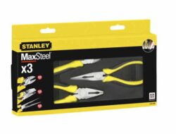 STANLEY 4-84-488 Sada kleští 3dílná (štípací, uchopovací, kombi) MaxSteel-3-dílná sada kleští MaxSteel