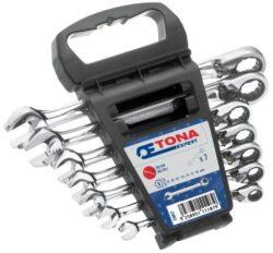 EXPERT E111107 Sada klíčů 7dílná ráčnových s páčkou-Sada ráčnových očkoplochých klíčů