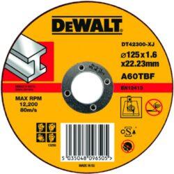 DEWALT DT42300 Kotouč řezný 125x1,6mm-Řezný kotouč na kov, rovný  125 x 1,6 mm