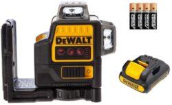 DEWALT DCE0811LR-XJ Aku laser linkový 4xAA 2x červený paprsek                   -2x paprsek - vertikální a horizontální