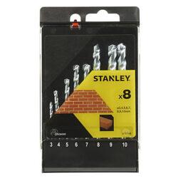 STANLEY STA56040-QZ Sada vrtáků do betonu 3-10mm 8dílná-Sada vrtáků do betonu 3-10mm 8dílná