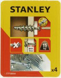 Hmoždinka do sádrokartonu kovová s vrutem 39mm SET4 STANLEY STF58004-XJ