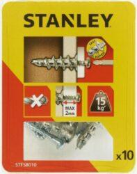 Hmoždinka do sádrokartonu kovová s vrutem 39mm SET10 STANLEY STF58010-XJ
