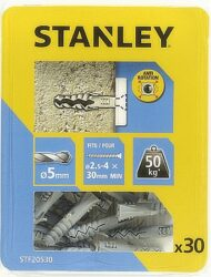 Hmoždinka do betonu nylon 5x25mm SET30 STANLEY STF20530-XJ