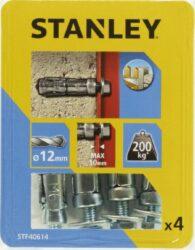 Kotva štítová rozpínací se šroubem 12x45mm SET4 STANLEY STF40614-XJ