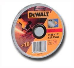 DEWALT DT42340TZ-QZ Kotouč řezný 125x1,2mm v boxu (10ks bal.)-Kotouč řezný 125x1,2mm v boxu (10ks bal.)
