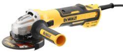 DEWALT DWE4357-QS Bruska úhlová 125mm 1700W BRUSHLESS-Úhlová bruska 125mm 1700W s elektronickou spojkou, bezuhlíkovým motorem a regulací otáček.