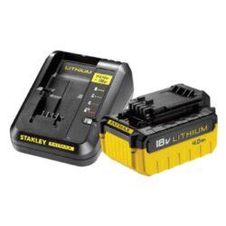 STANLEY FMC694M1-QW Set 1x akumulátor 18V 4,0Ah + nabíječka 2,0A SFM-Set 1x akumulátor 18V 4,0Ah + nabíječka 2,0A